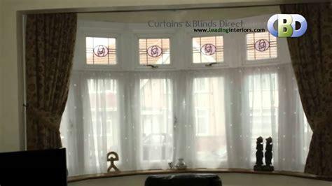 Window Treatment Ideas For Bow Windows bay window curtains at www leadinginteriors com youtube