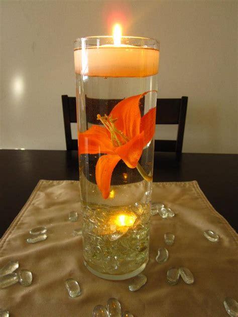 floating candle centerpiece floating candle wedding centerpiece kit orange by