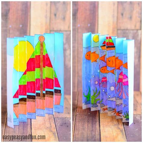 printable summer crafts for summer agamograph template easy peasy and