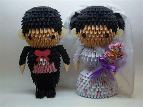 3d origami and groom 17 best images about wedding on papercraft 3d