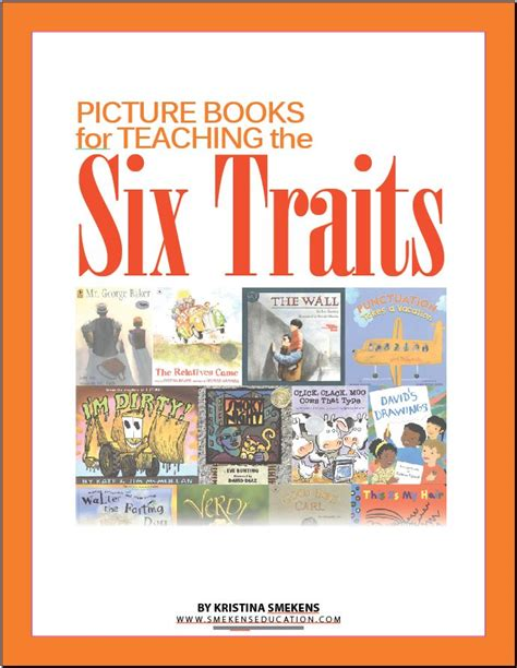 picture books character traits 6 traits of writing professional development by smekens