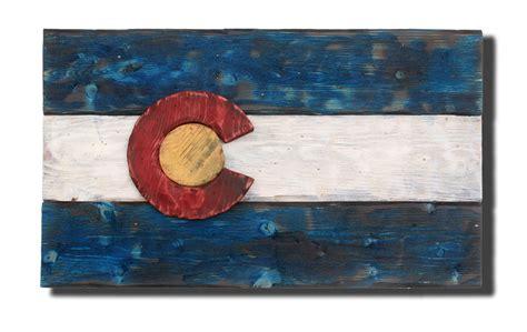 colorado woodworking 3d colorado flag distressed wood wooden vintage