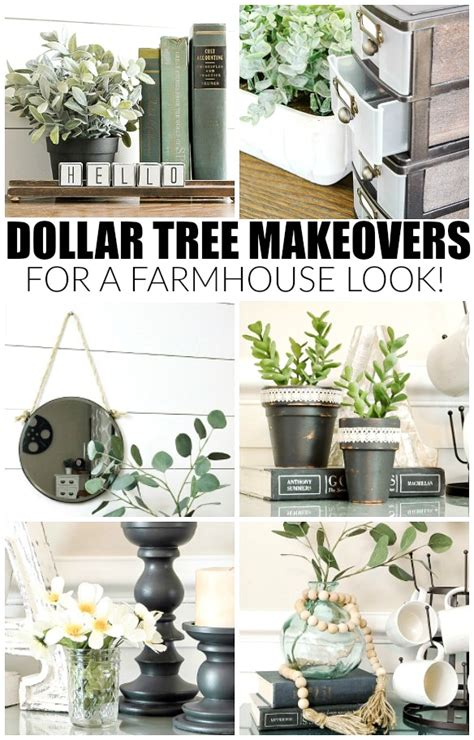 tree items get the farmhouse look with these dollar tree items
