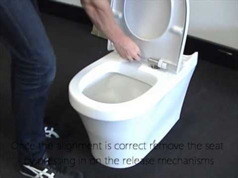 How To Tighten A Duravit Toilet Seat by Q Seat Installation Youtube
