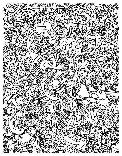 doodle lã sung gribouillage doodle 2 coloriage doodle