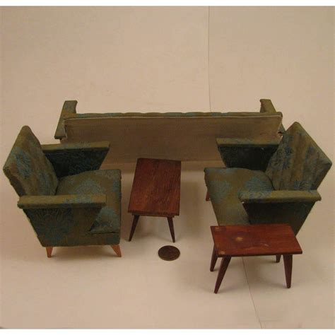 mid century modern dollhouse furniture mid century modern doll house 5 pc living room furniture