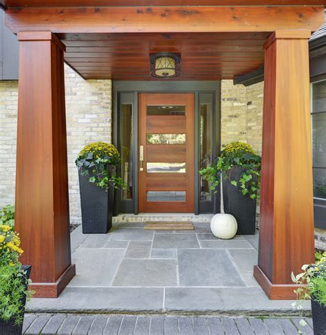 White Glass Tile Backsplash Kitchen contemporary front doors landscape contemporary with