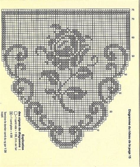 1000 images about rideaux crochet on crafting floral patterns and cross stitch