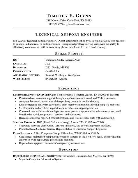 technical skills on resume resume template 2017