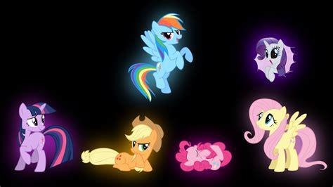 pony glow in the my pony mane 6 glow by ozicks on deviantart