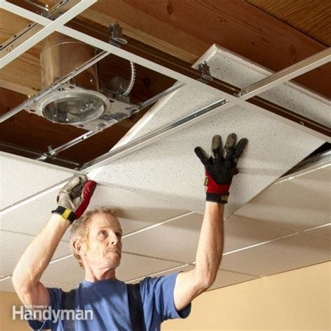 lighting for drop ceiling panels drop ceiling installation tips family handyman