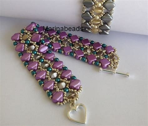 bead websites tutorial quot pinch pearl quot bracelet marinabeads