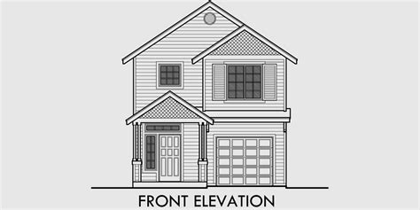 narrow lot house plans with front garage narrow lot house plans with front garage escortsea