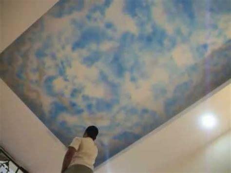 spray painting sky how to do ceiling sky spray paintings