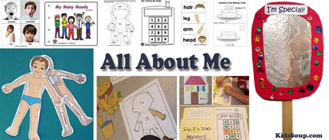 all about me crafts for all about me activities crafts and lessons plans kidssoup