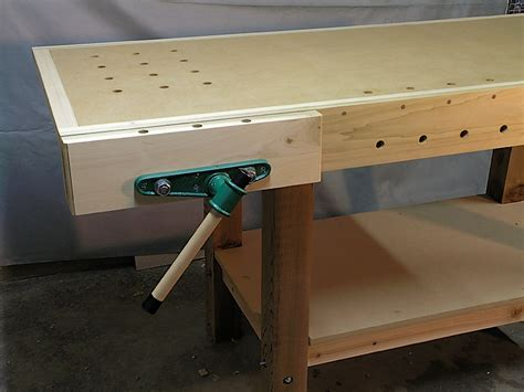 installing a woodworking vise woodworking bench vise installation woodworking plans
