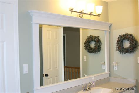 frames for bathroom mirror of great ideas framing a builder grade mirror that