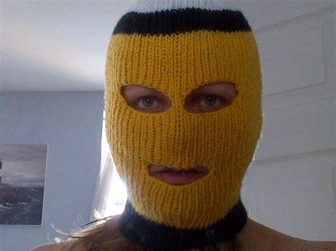 knit ski mask bringing knitting to the streets literally