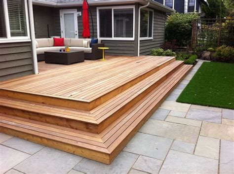 deck to patio designs best 25 patio stairs ideas on