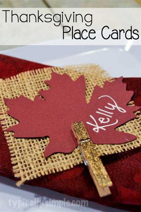 how to make thanksgiving place cards 24 simple diy ideas for thanksgiving place cards amazing