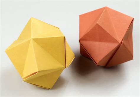 stellated octahedron origami papercraftsquare new paper craft how to fold a