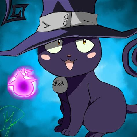 soul eater blair blair in cat form from soul eater ソウルイーター soul eater