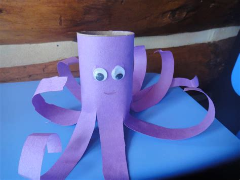 octopus crafts for toilet paper roll octopus