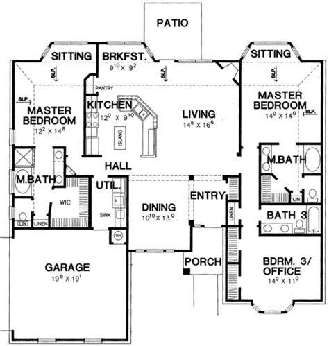 2 master bedroom house plans master bedroom house plan 3056d architectural designs house plans