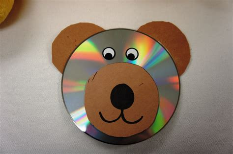 cd craft for teddy bears picnic sunflower storytime