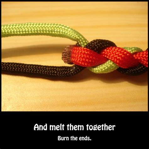 melt together braiding paracord the easy way
