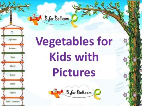 with pictures vegetables for with pictures
