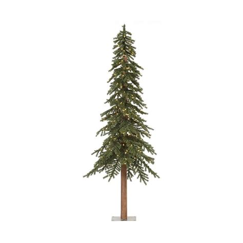 7 foot slim pre lit trees shop vickerman 7 ft pre lit alpine slim artificial