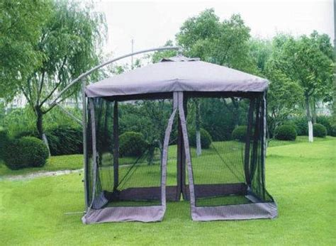 patio umbrella with netting patio garden offset hanging umbrella netting id 1298127