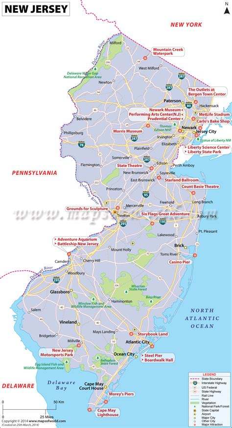 in new jersey buy map of new jersey