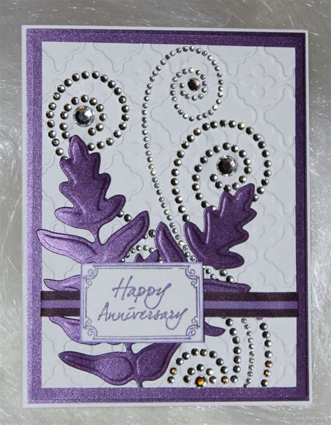 anniversary card ideas anniversary card with rhinestone swirls create n craft