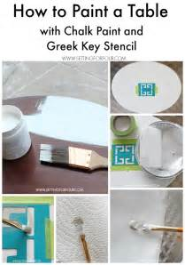 chalk paint instagram chalk paint table makeover with key stencil