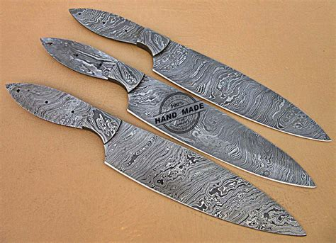 professional kitchen knives lot of 3 pcs professional kitchen knives blank blade set