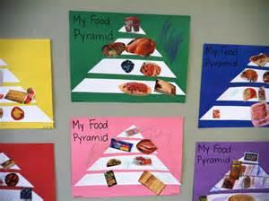 healthy food crafts for food pyramids for preschoolers preschool