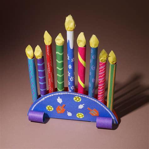 menorah crafts for chanukah menorah centerpiece craft crayola