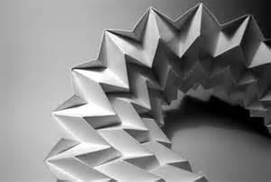 folded origami paper folding artworks
