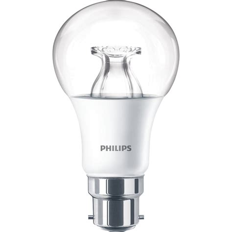 warm glow led lights philips led warm glow dimmable a shape l 8 5w bc b22d