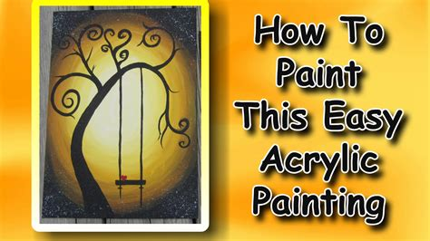 how to acrylic paint on canvas for beginners easymeworld how to paint an easy acrylic painting for