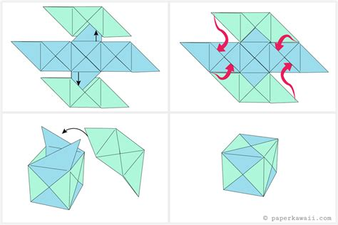 how to make origami containers free coloring pages how to make a modular origami cube