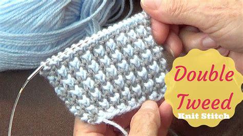 knitting on the net tweed knit stitch