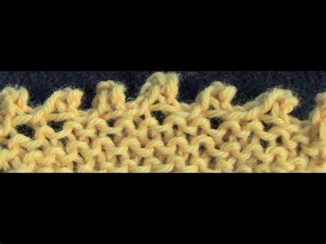 picot bind in knitting picot bind