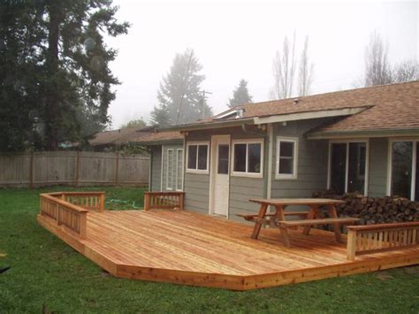 simple backyard decks simple backyard deck this might work for our yard