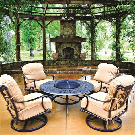 tuscany patio furniture grand tuscany pit set by hanamint patio furniture family leisure