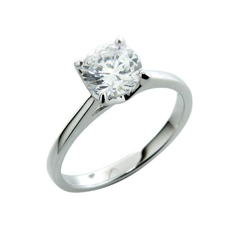 sterling silver sterling silver engagement ring