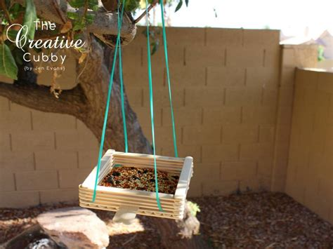 stick projects the creative cubby popsicle stick bird feeder