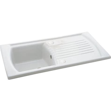 homebase kitchen sinks carron solaris 100 white ceramic kitchen sink 1 bowl